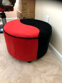 red and black fabric ottoman Cheltenham, 20623