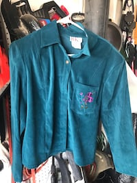 blue button-up long-sleeved shirt New Kingman, 86409