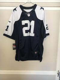 Men's xl dallas cowboys #21 ezekiel elliott nike navy alternate game jersey Riverside, 92504