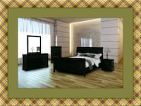 11pc black bedroom set free delivery Ashburn, 20147