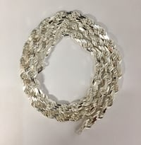 """Silver 925 Rope chain necklace , 8mm, 24"""" Honolulu, 96815"""