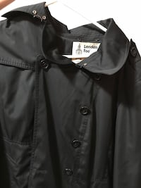 London fog large black button-up collared coat.like new.used for 2 times only. Surrey, V3W 8J5