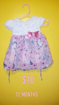 girl's pink and blue floral dress Chicago, 60804