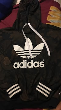 black and white Adidas pullover hoodie Springfield, 22151