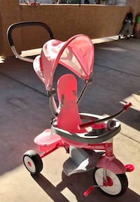 baby's red and white stroller Las Vegas, 89141