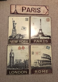 Travel picture signs (metal) Vaughan, L4L 8S4