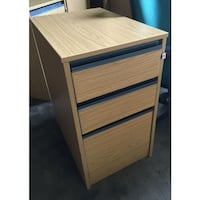 brown wooden 3-drawer chest LONDON