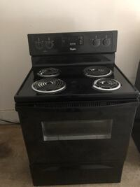 black 4-coil electric range oven Herndon, 20171