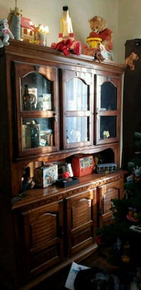 Vintage large wooden cabinet curio cabinet only  Perth County, N0B