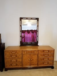 brown wooden dresser with mirror Ashburn, 20147