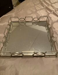Chrome and Mirror Tray AS IS