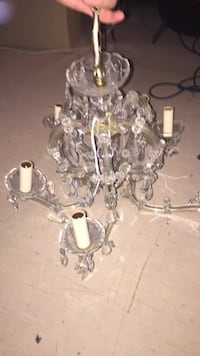 klart glass stearinlys uplight lysekrone Oslo, 0150