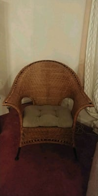 brown wooden framed brown fabric padded armchair Bethesda, 20814