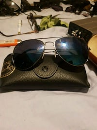 Blue lens silver frame Ray-Bans 592 km