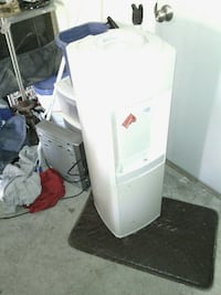 white hot-and-cold water dispenser