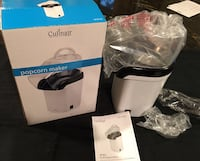 Culinair AP201W White Hot Air Popcorn Maker for Small Spaces New! Skokie, 60077