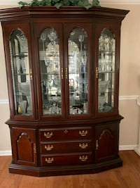 cherry dinning dining table and chairs and hutch  Lexington