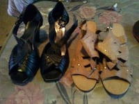 two pairs of black and brown sandals Ville Platte, 70586