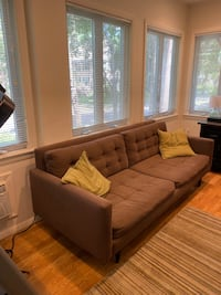 Crate & Barrel Petrie Couch and Chair Set