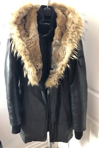 Rudsak leather and fur hooded coat like new  Terrebonne, J6V 0B7