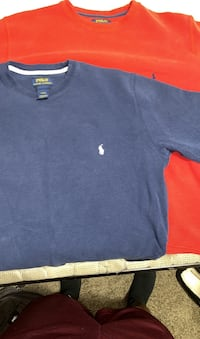 Polo Ralph Lauren Large 100% Cotton Red & Blue $70 a piece