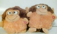 two brown-and-beige monkey plush toys Stafford, 77477