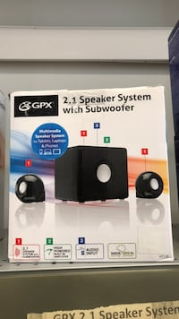 Gpx 2.1 speaker system with subwoofer  Chicago, 60652