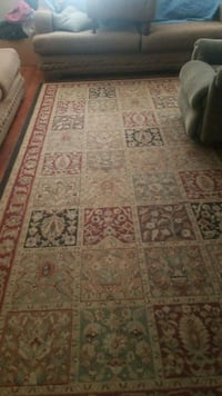brown, red, and black floral area rug Oakdale, 95361