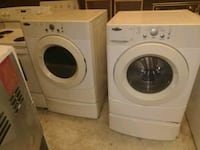 white front-load washer and dryer set Indianapolis, 46224