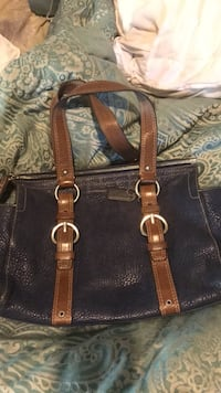 Blue and brown leather coach bag Salinas, 93907