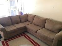 Camel suede sectional couch with removable  back pillows Scottsdale, 85250