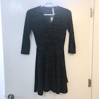 BNWT Charcoal Grey and Black Wrap Dress Vancouver, V5R 4Y2