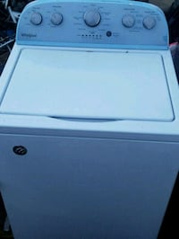 white Samsung top-load clothes washer 316 mi