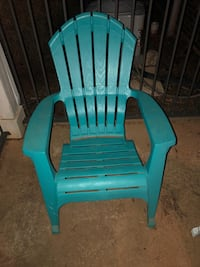 Patio chairs. 2x White and 2x Teal. Oklahoma City, 73105