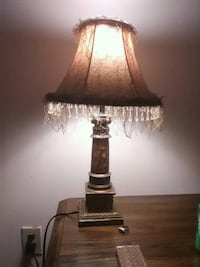 brown and white table lamp Sumter, 29154