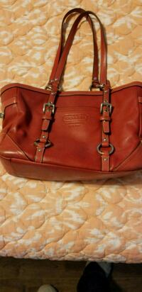 women's red leather coach purse Smiths Station, 36877