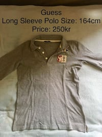 Grey Guess langermet polo skjorte