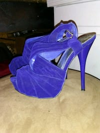 Qupid size 7 blue suede heels Lincolnville, 29485