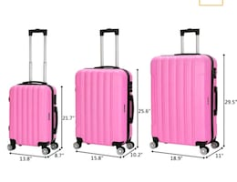 three-piece luggage set
