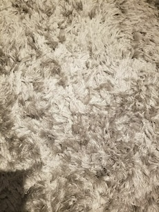 10ft by 8ft grey shag rug