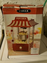 red and white Popcorn maker new in box