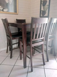 rectangular brown wooden table with six chairs dining set Tucson, 85706