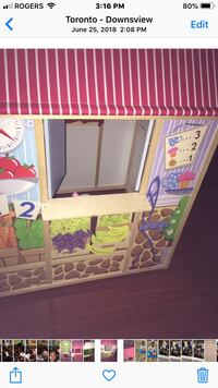 Play house/shop/puppet theatre/chalk board/post-bank/ kiosk