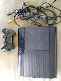 black Sony PS3 super slim console with controllers Manassas, 20109