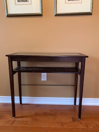 "Wood/glass console table, 33""W x 30"" H x 12"" D, +see matching table  Whitchurch-Stouffville, L4A 0E2"