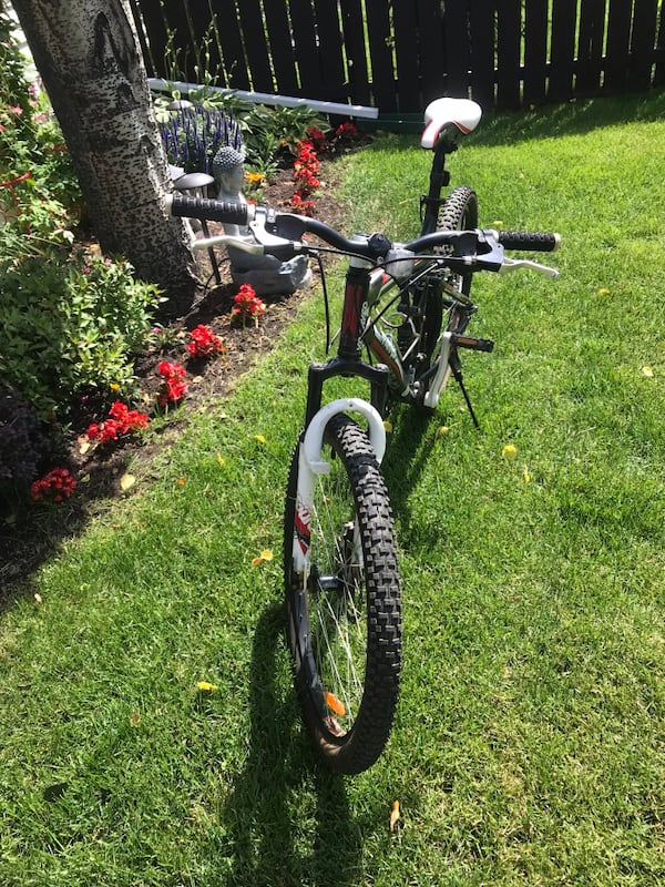 24 Speed Cranked Bike mid shock & front excellent condition helmet lock water bottle padded gloves  2e62aa8d-3dc9-47f2-8007-87cb809941ed