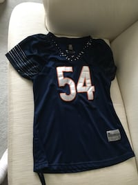 Chicago Bears Brian Urlacher Ladies Jersey. Fits Size Small to Medium. Draw Strings at Bottom. Great Condition. Go Bears Cochrane, T4C 1K6