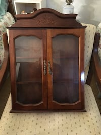 Small Wall Curio Cabinet Cost $100 new.
