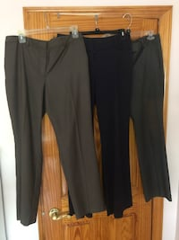 Women's three pants black/ Gray and brown each $4   size 6/8/10 Deer Park, 11729