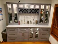 Home Wine Bar 9-piece Cabinetry Set - beautiful modern bar! Rutherford, 07070